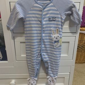 Little me my first Easter footie coverall for boy